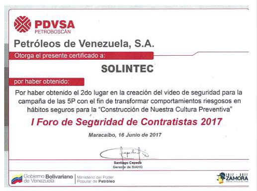 Reconocimientos - Solintec